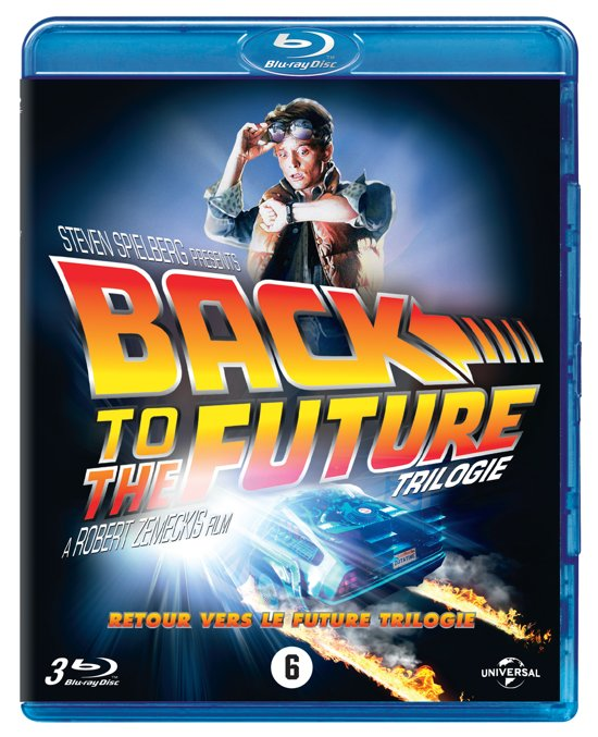 DVD cover van Back To The Future Trilogy (Blu-ray)