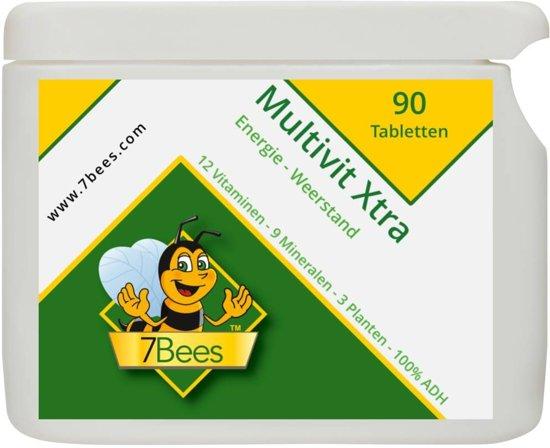 Multivit Xtra 90 tabletten 12 Multivitaminen-9 Mineralen-3 planten - 7Bees