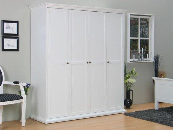 Tvilum veneti kledingkast 4 deurs wit for Grote spiegels te koop