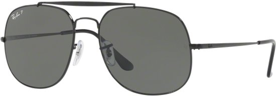 Ray-Ban RB3561 002/58 - General - zonnebril - Zwart / Groen Klassiek G-15 - Gepolariseerd - 57mm