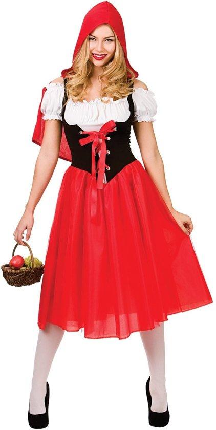 Generik Verkleedkleding Roodkapje Kostuum lang voor vrouwen Rood - XL