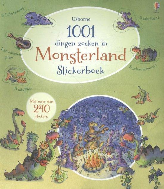 1001 dingen zoeken in monsterland stickerboek