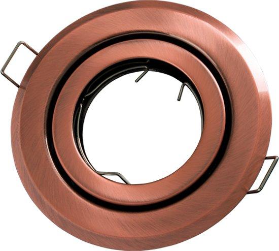 LED line Inbouwspot - Rond - Aluminium - GU10 Fitting - Ø 90 mm - Brons Look