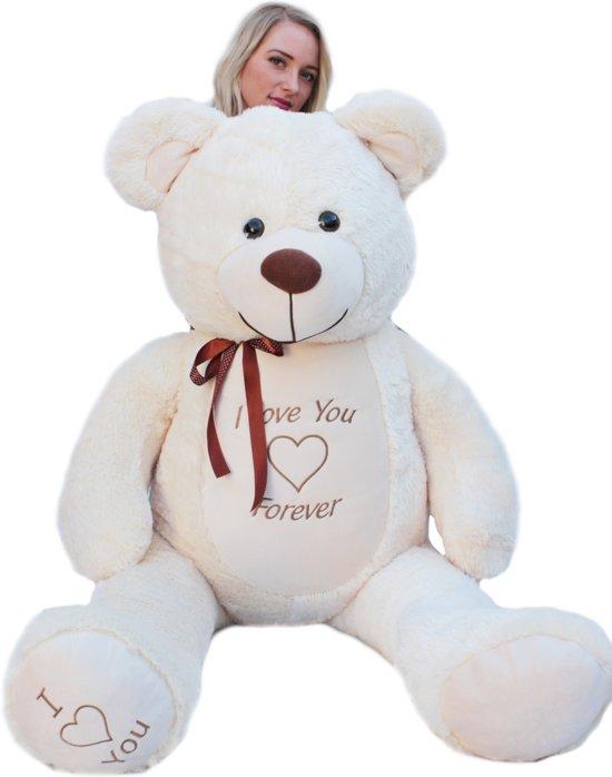 Bolcom Grote Crème Knuffelbeer Teddybeer Met I Love You Tekst Ap