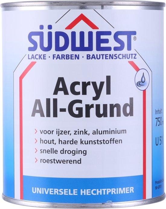 Sudwest All-Grund Acryl Zwart 750 ml