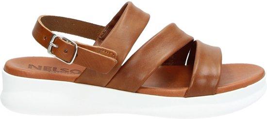 Nelson dames sandaal Cognac Maat 38