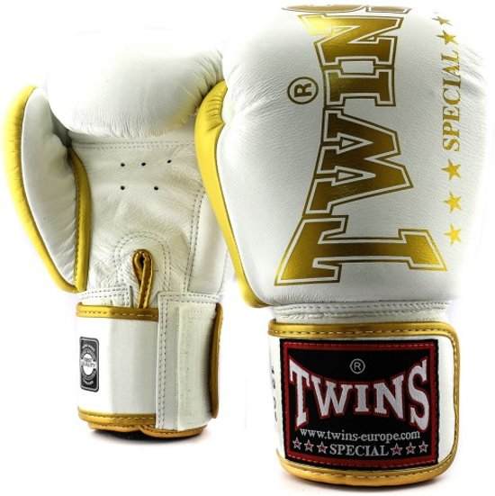 Twins (kick)bokshandschoenen BGVL8 Wit/Goud 14oz