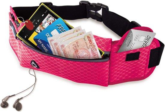 #DoYourFitness - Loopriem - »RunHero« - heuptas / ritszak voor hardlopen ,elastisch, waterdicht - mobiele telefoon tot ca. 5,5 inch - pink