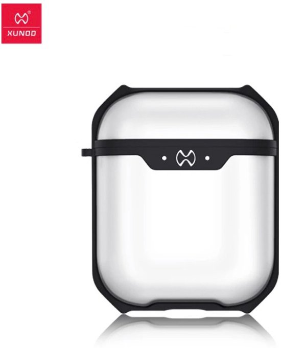 Airpods Shockproof Case Cover - Beschermhoes - Zwart - Geschikt voor Apple Airpods