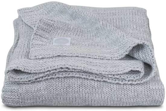Jollein Melange knit Deken 100x150cm soft grey