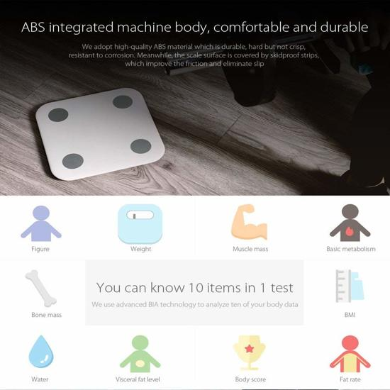 Xiaomi intelligente BMI data-analyse met een gewicht van APP controle BMI data-analyse slimme weegschaal|Xiaomi intelligent BMI data analysis weighing APP control BMI data analysis smart weight scale