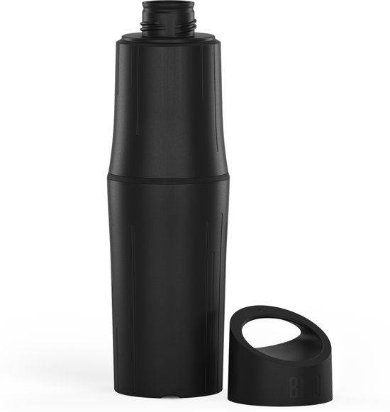 BE O bottle waterfles - 100% recyclebaar - Zwart