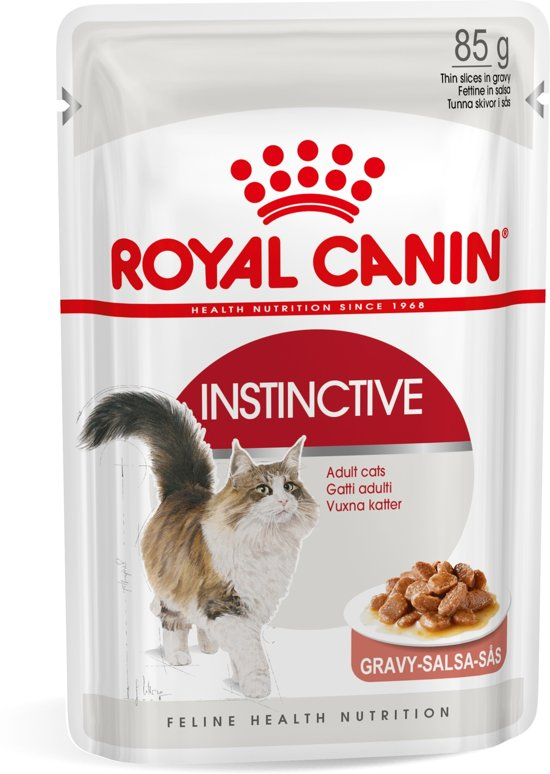 Royal Canin Instinctive - in Saus - Kattenvoer - 1020 g - 12st x 85g