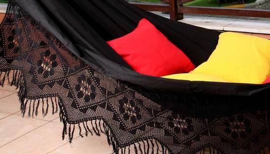 Hangmat XXL Ouro Negro zwart