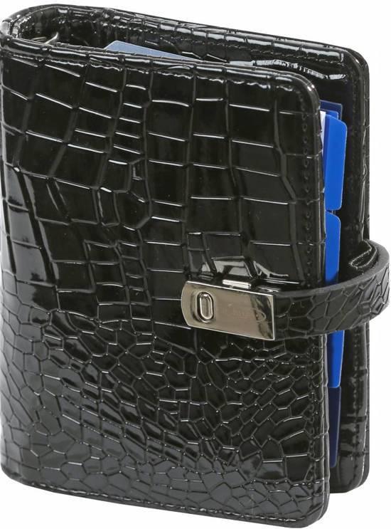 1401-61 Kalpa mini organiser gloss croco zwart( zonder inhoudt)