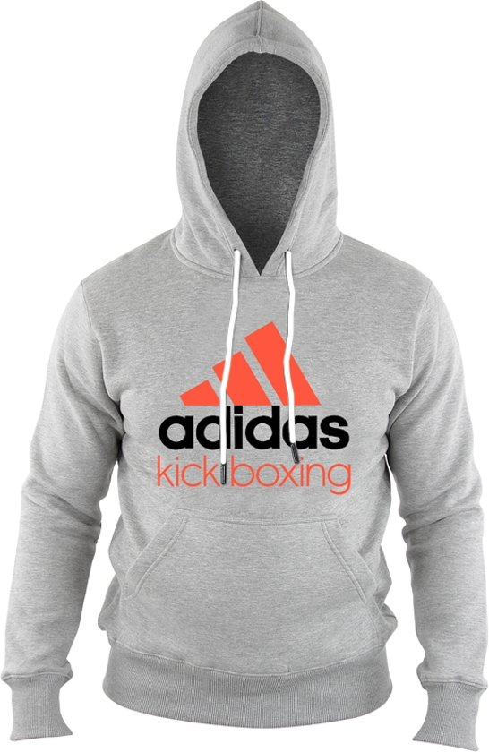 adidas Community Hoodie Grijs/Oranje KickBoxing Small