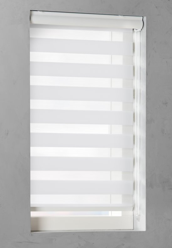 Duo Rolgordijn lichtdoorlatend Snow white - 50x130 cm