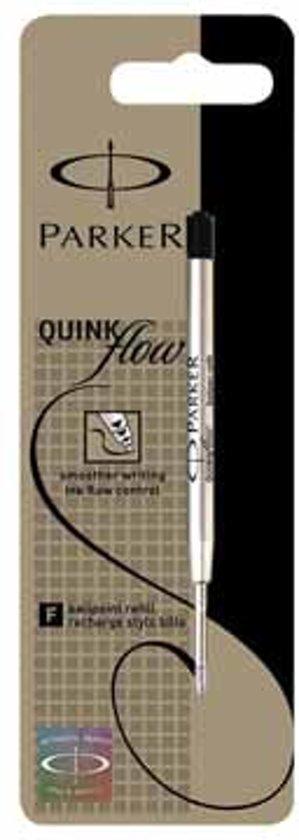 Balpenvulling Parker Quinkflow Fijn Zwart Blister