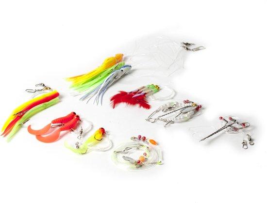 Mijn eerste zeevisset – Complete Set Zeevissen Opbergbox Pilker Gummi Mak Breeklicht Twister Platvis
