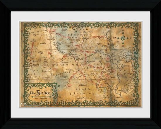 Bolcom Merchandising The Hobbit Collector Print 30x40 Map