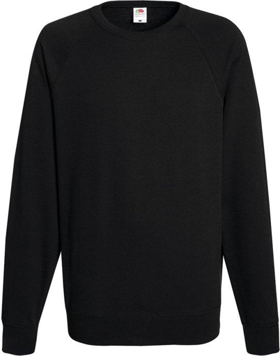 Fruit of the Loom Mannen Crew-neck Sweatshirt Zwart M