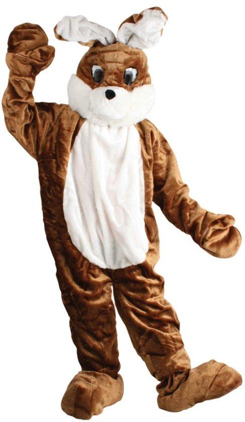 Super bol.com | Paashaas kostuum konijn pak haas bruin mascotte pluche AC-59