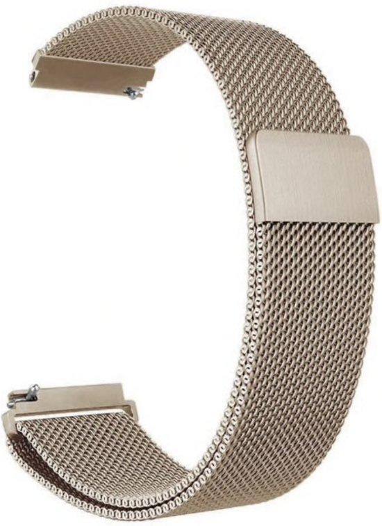 Milanees Bandje - Champagne - Voor Samsung Galaxy Active 1/2 - Galaxy Watch (42mm) - Gear Sport - Bandbreedte 20mm