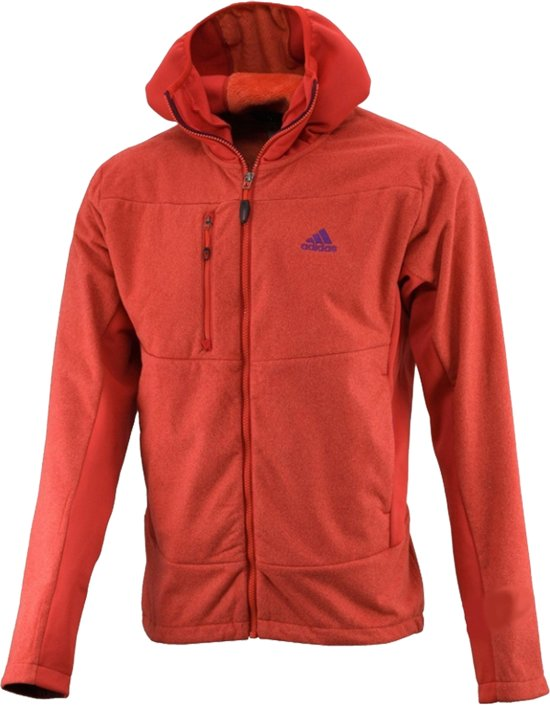 1f1fba7e583 Adidas Adidas Melange Fleece Capuchon Vest Rood - Fleece Vest - Adidas Vest  - W42665 -