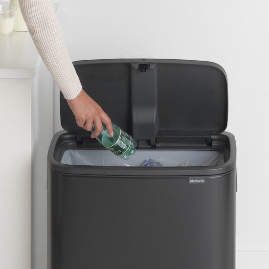 Brabantia Bo Touch Bin 60 Liter Mat Zwart