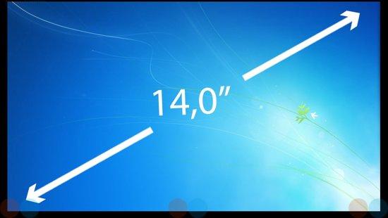 14.0 inch Laptop Scherm EDP Slim 1366x768 LP140WH8-TPH2
