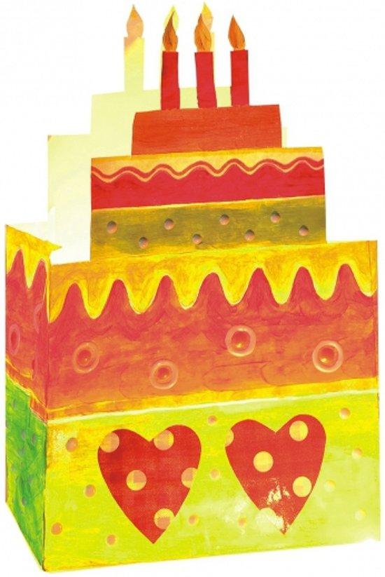 Gekleurde candle bags taart