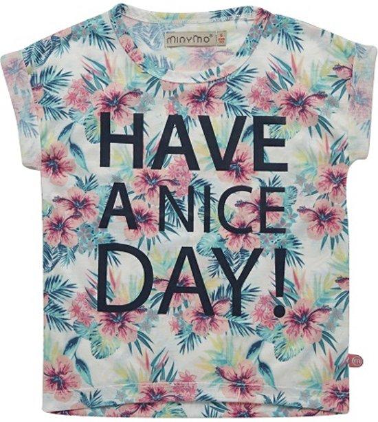 Minymo - meisjes shirt - have a nice day - grijs