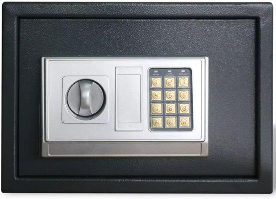 vidaXL Elektronische digitale kluis met schap 35 x 25 x 25 cm