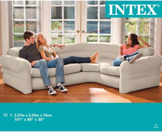 Intex Opblaasbare hoekbank 257x203x76 cm 68575NP