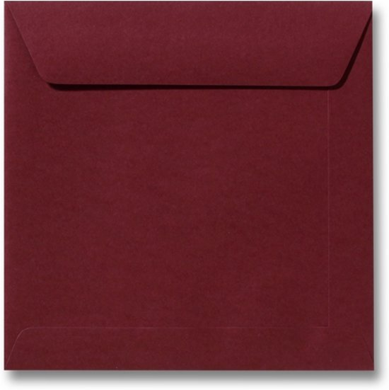 Envelop 17 x 17 Donkerrood, 100 stuks