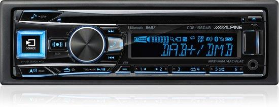 Alpine CDE-196DAB Bluetooth Zwart autoradio