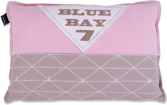 In The Mood Blue Bay - Sierkussen - 30x45 cm - Roze