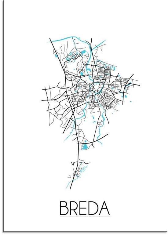bol.com   DesignClaud Breda - Stadskaart - Plattegrond - Interieur ...