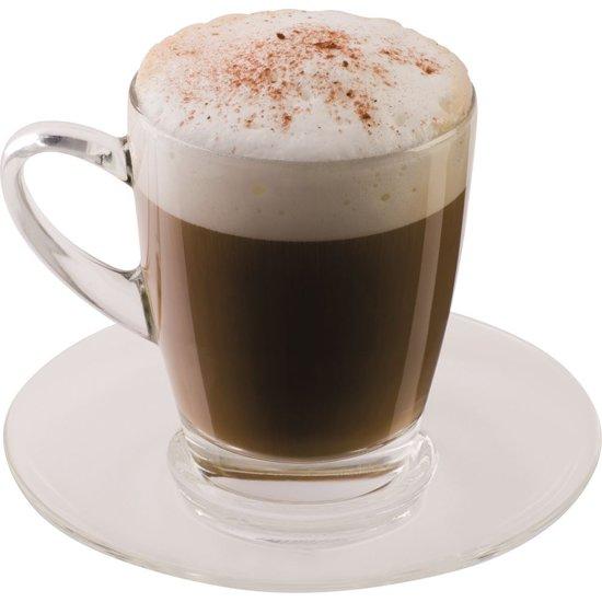 Cappuccino glazen Kop en Schotel