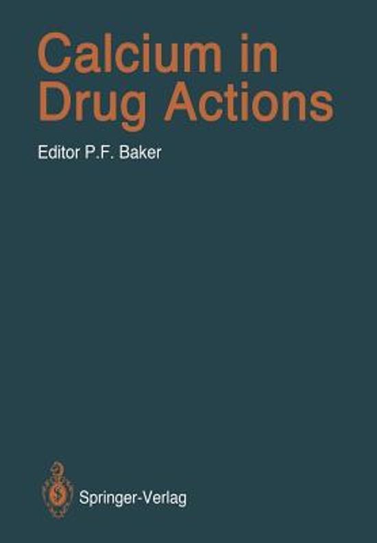 Calcium in Drug Actions