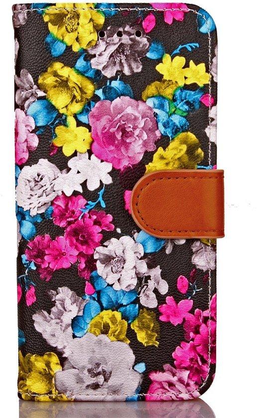Shop4 - iPhone 7/8 Hoesje - Wallet Case Bloeiende Rozen Gekleurd in Bovenstreek