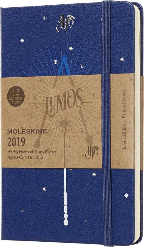 Moleskine agenda 2019 - 12 maanden - Wekelijks - Harry Potter blauw - Pocket - Hard cover