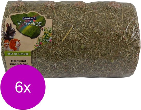 Vitakraft Vita Verde Hooitunnel Large - Knaagdiersnack - 6 x 800 g