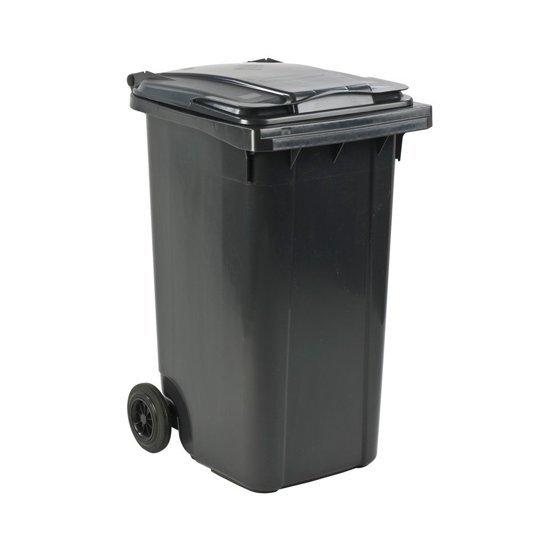 Afvalcontainer / Kliko / Mini Container kunststof 240 liter grijs