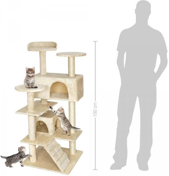 krabpaal kattenkrabpaal 132cm beige, nieuw, 401770
