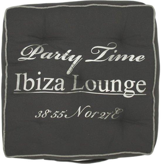 Mars & More Ibiza Party Time - Sierkussen - Zitkussen - 40x40 cm - Grijs/Zilver