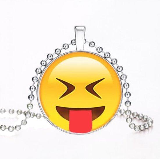 Emoji ketting uitstekende tong