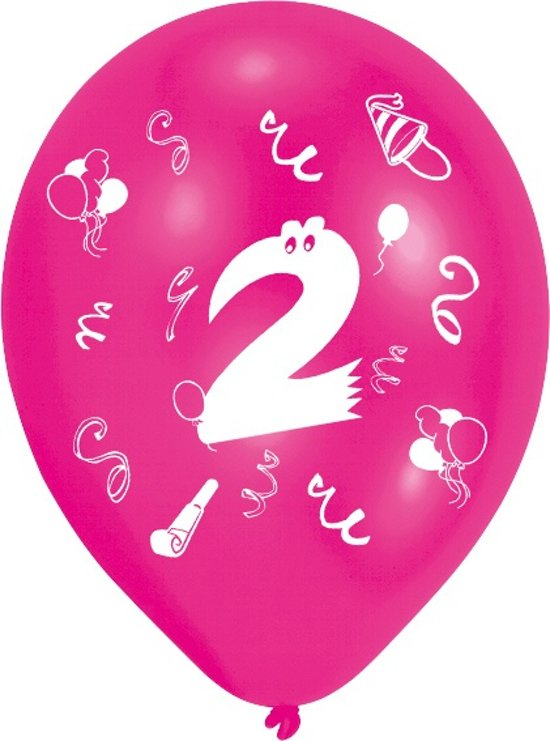 ballon 2 jaar bol.| Amscan Ballonnen 2 Jaar 8 Stuks 25 Cm, Amscan | Speelgoed ballon 2 jaar