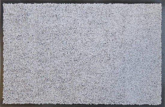 Ecologische droogloopmat zilvergrijs - 88 x 148 cm