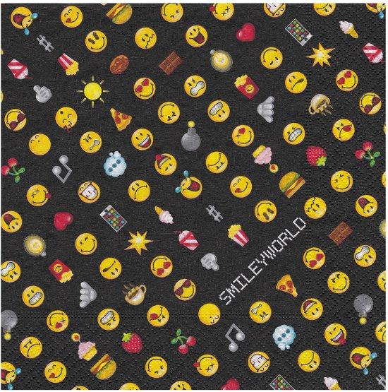 20 napkins Smiley Emoticons 33 x 33 cm